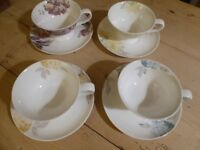 Laura Ashley cup and saucer set of 4