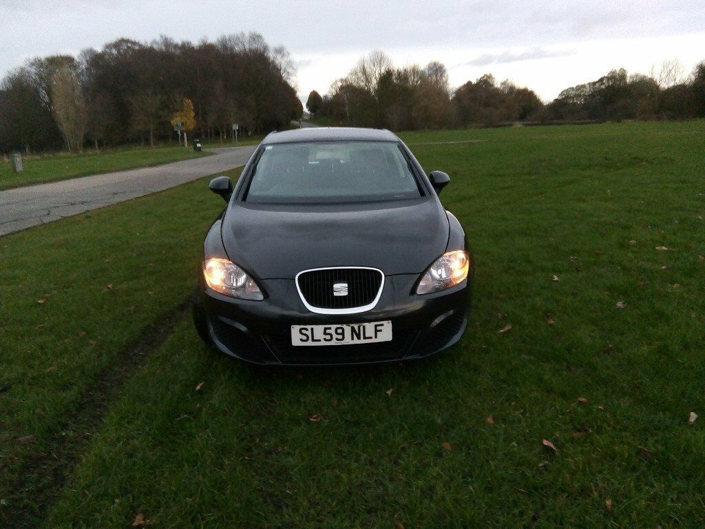 SEAT LEON 2009 59 PLATE 1.9 TDI S 105 BHP FACELIFT BLACK (NOT AUDI,BMW,VOLKSWAGEN,FORD)
