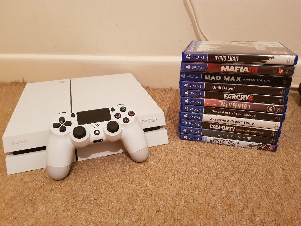 PS4 White 500gb with 11 games  £200 | in Plymouth, Devon | Gumtree