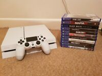 PS4 White 500gb with 11 games. £210