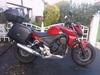 CB500 FA, 64 plate, ABS, 1yrs MOT, 1yrs road tax, £3800.00 ono