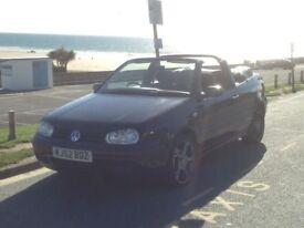 For Sale VW Golf Cabriolet SE, Black, 2 Ltr petrol. 2002 (52 Plate) £900