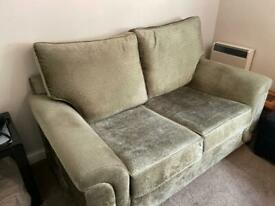 Modern and stylish/ comfortable velvet 2 set of sofas in new condition