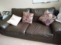 ****FREE 3 and 2 leather sofa set. Reasonably good condition****