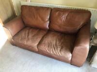 Leather Sofas & Pouffe
