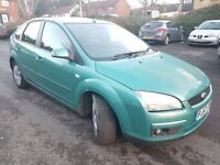 Ford Focus Style Diesel 1.6 5dr 2007 Hatchback Manual Green warranted mileage vosa verified.