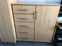 Chest of drawers - Solid wood - Wheels