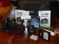 Canon Xsi or 450D with 2x lens, bag, UV and Polarising filters, 2x battery good condition