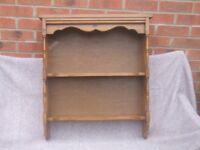Antique pine shelf unit
