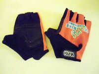 WiFra Womens TeamBike Viscopisano Cycling Mitts. Black & Pink. Size: XL.