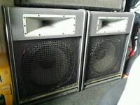 2 x 12 inch club speakers