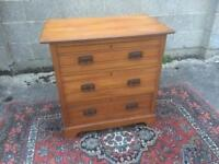 Pine cute small chest of three drawers