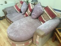 4 seater Chaise long Sofa.