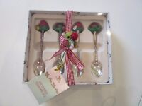 Boxed Set Strawberry Coffee Spoons.