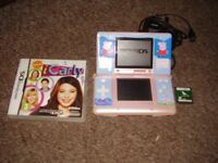 NINTENDO DS WITH CHARGER AND GAME