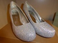 LADIES SILVER SHOES