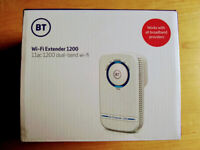 Wifi Extender: BT 11ac Dual-Band 1200. Works with ALL broadband providers