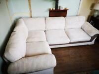 Large Cream Corner Sofabed