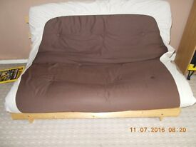 futon sofa bed with matress (chocolate colour for sale