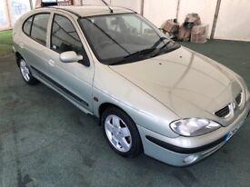 Renault Megane Fidgi 16v. 5 door hatchback. New MOT. Cambelt replaced. Exceptional condition.