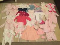Large bundle of gorgeous baby girls clothes aged newborn to 3 months