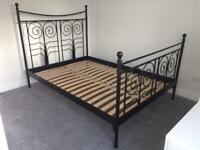 Timeless metal bed frame