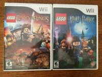 Lego Wii Games Lord of the Rings, Harry Potter