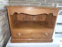 Antique Pine TV/Display storage unit