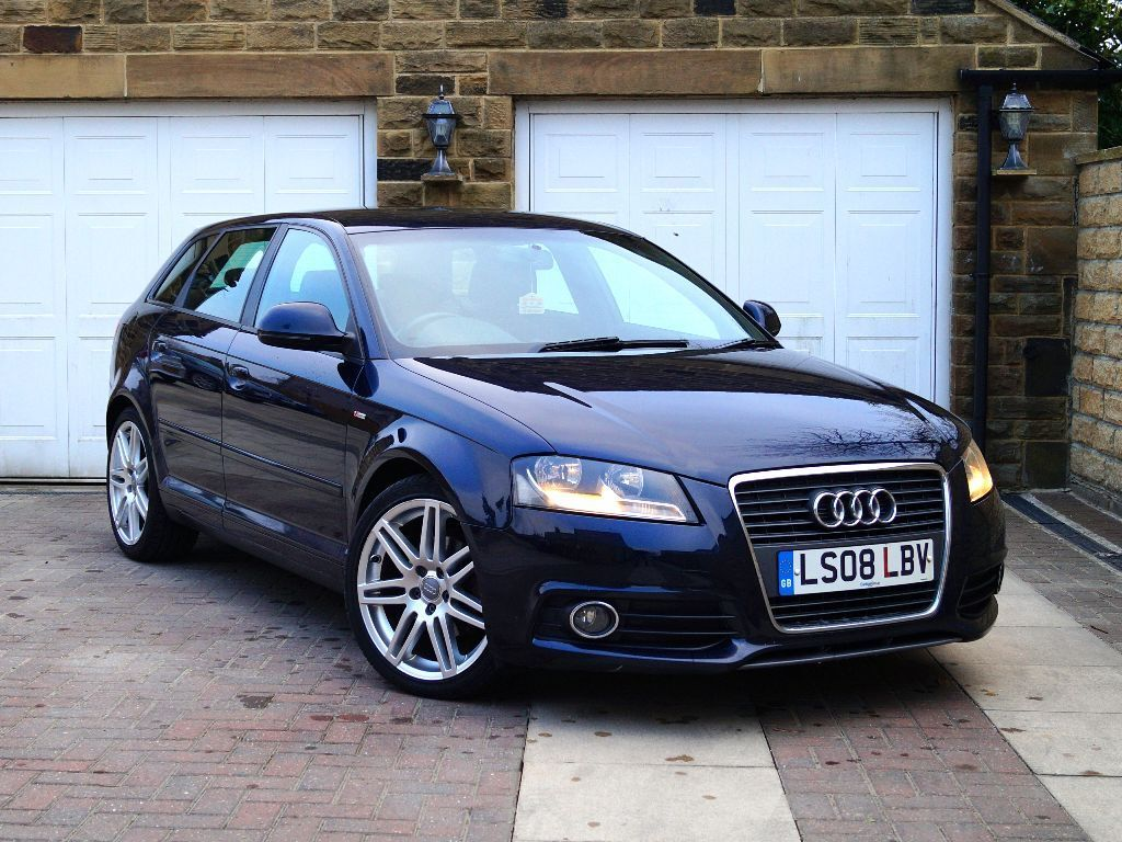 2008 audi a3 2 0 tdi s line 5dr blue full leather interior in bradford west yorkshire. Black Bedroom Furniture Sets. Home Design Ideas