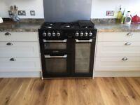Leisure Cuisinemaster Dual Fuel Range Cooker, Black