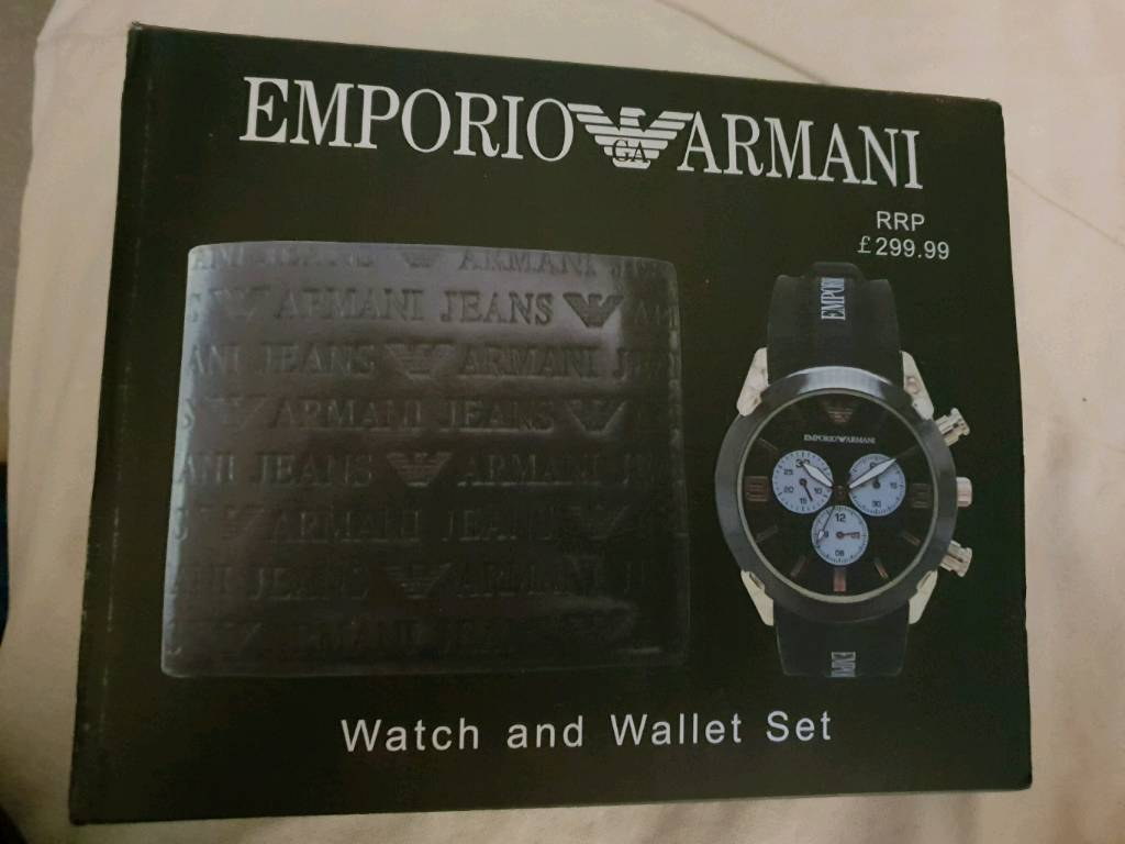 e115cb3dfe58 Emporio armani watch and wallet set