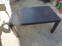 Black Ikea 'Lack' Coffee Table