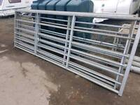 11ft fully galvanised field paddock gates two left farm livestock tractor