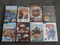 8 PC Games in good condition