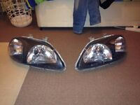 Honda Civic Black JDM Style Headlights (1996 - 1998)