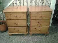 Solid Pine Bedside Cabinets. ...free local delivery. .
