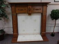 Wood Fire Surround and Base GF035