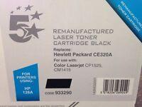 Black laser toner cartridge for HP Colour Laserjet CP1525 or CM1415