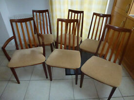 G-Plan Retro Teak 6 Dining Room Chairs