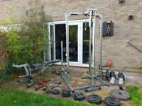 Weights and rack gym