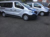 Renault trafic minibus 9 seater 2x available