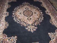 Large black & brown Medallion design rug