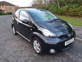 2010 60 TOYOTA AYGO BLACK 1.0 * ONLY 69K MILES * SERVICE HISTORY * £20 R/TAX *