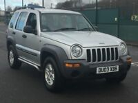 2003 JEEP CHEROKEE 2.8 CRD SPORT AUTO * LONG MOT * 4X4 * PART EX * DELIVERY *