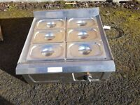 Falcon Pro-Lite Dry Heat Bain Marie LD39 6X Containers Gastronorm Pan & Lids