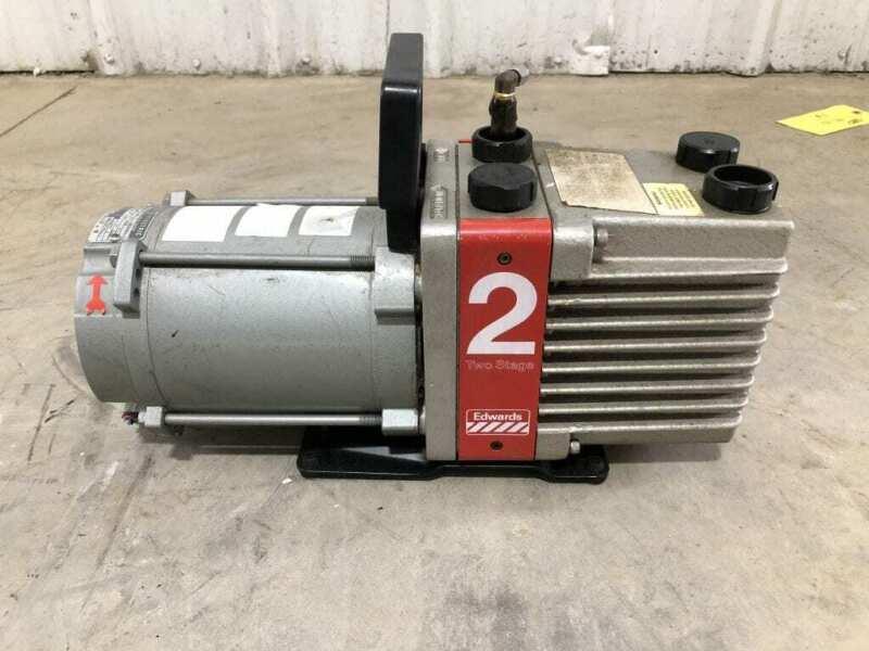 BOC Edwards E2M2 2 Stage Rotary Vane High Vacuum Pump 1/3HP 1725RPM 230/460V 3PH