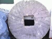Reclaimed mill stone, garden feature