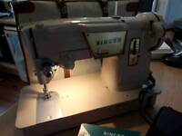 Vintage 'Singer' sewing machine.