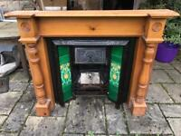 Cast iron fire place£500 with wood surround £100