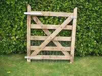 Solid wooden heavy duty outdoor garden / side / entrance gate